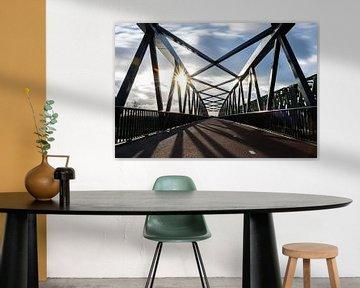 """Asymmetrischer Blick über die Fahrradbrücke """"De Maasover"""" von Patrick Verhoef"""