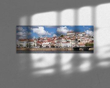 Oude stad, universiteit, Mondego, rivier, Coimbra, Beira Litoral, Regio Centro, Portugal van Torsten Krüger