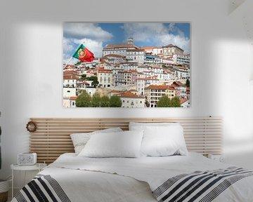 Altstadt,  Coimbra, Portugal, Stadt, Flagge von Torsten Krüger