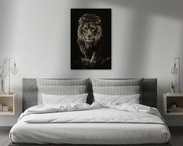 De denkende leeuw van Rene Van der Made