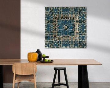 Motif Art Déco Or Turquoise sur Andrea Haase