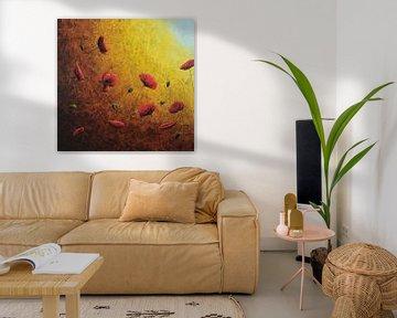 Mohnblumen in goldener Sonne II von Russell Hinckley