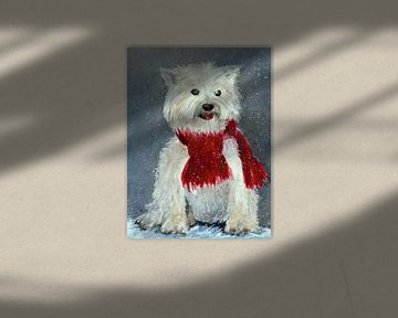 Benny im Schnee - Draußen vor der Tür von Christine Nöhmeier