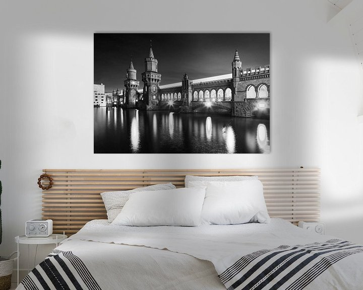 Sfeerimpressie: Oberbaum-brug Berlijn van Frank Herrmann