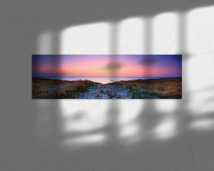 Impression: Coucher de soleil - Panorama sur la mer sur Frank Herrmann