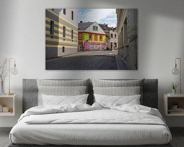 Bunte Straße in Kladno, Tschechische Republik von JuHru webshop