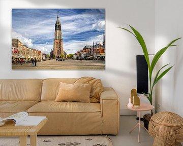 Der Markt von Delft von Jan Kranendonk