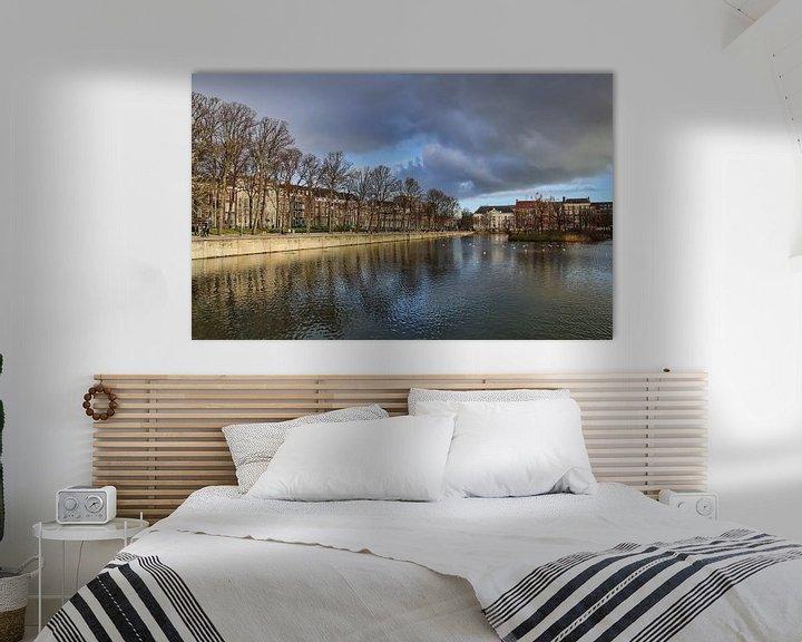 Sfeerimpressie: De Hofvijver in Den Haag van Jan Kranendonk