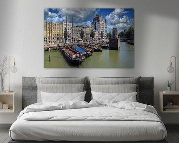 Wijnhaven met het Witte Huis in Rotterdam van Jan Kranendonk