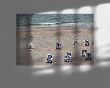Strandkörbe am Meer von Bianca Grüneberg