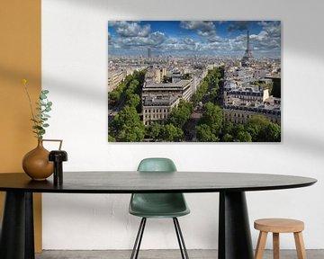 Paris und der Eiffelturm von Jan Kranendonk