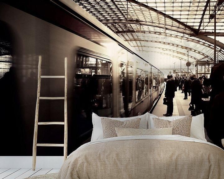 Sfeerimpressie behang: Berlin Hauptbahnhof van Insolitus Fotografie
