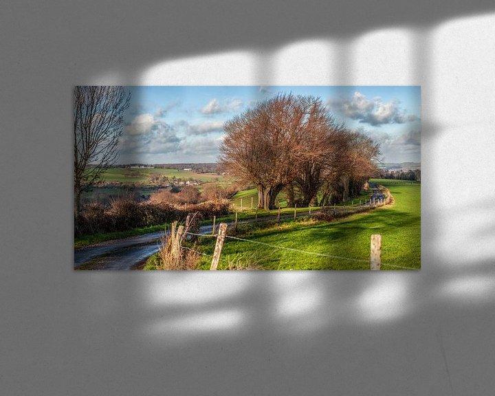 Beispiel: Panorama der südlimburgischen Landschaft bei Epen von John Kreukniet