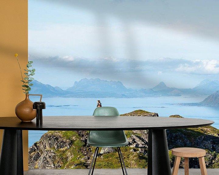 Sfeerimpressie behang: Wandelen in Noorwegen van Jeroen Kleiberg