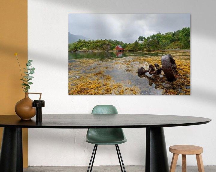 Sfeerimpressie: Landschap Lofoten Noorwegen van Jeroen Kleiberg