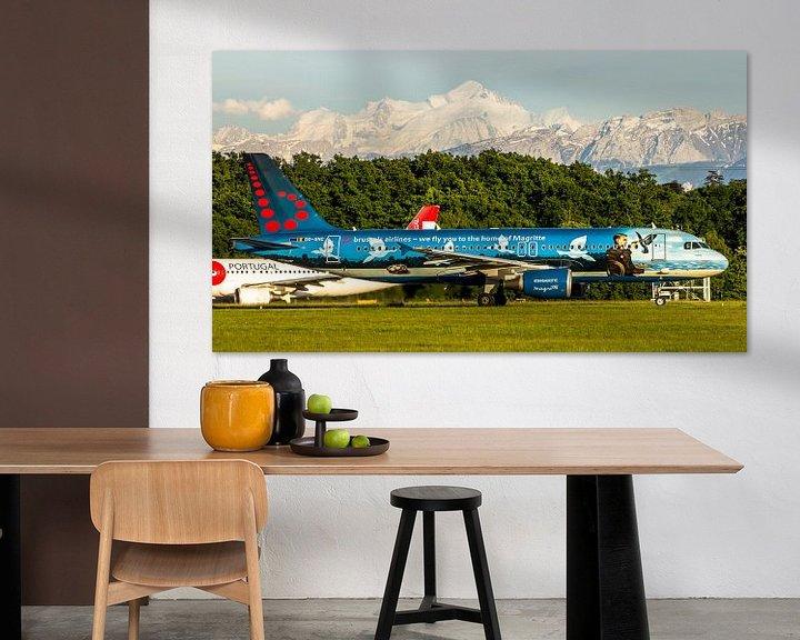 Sfeerimpressie: Brussels airlines in speciale kleuren van Dennis Dieleman