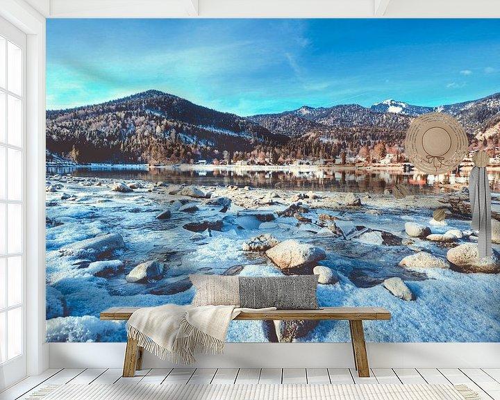 Beispiel fototapete: Das Ufer im Fokus am Walchensee von Roith Fotografie
