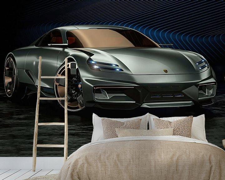 Beispiel fototapete: Porsche Cyber 6, Sportwagen. Konzeptfahrzeug von Gert Hilbink
