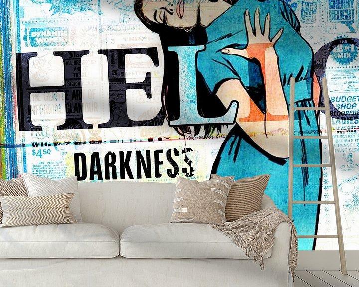 Sfeerimpressie behang: Hello Darkness My Old Friend van Feike Kloostra