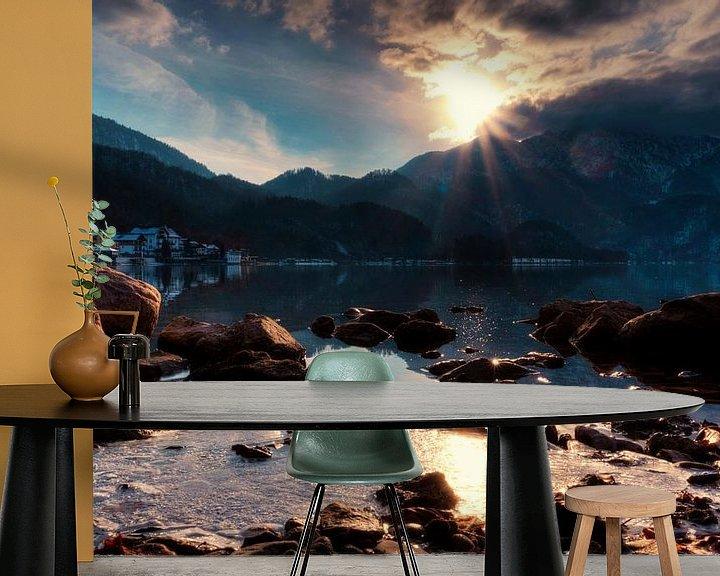 Impression: Le soleil embrasse le sommet du Walchensee sur Roith Fotografie