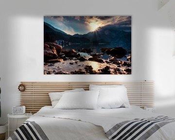 Sonne küsst Gipfel am Kochelsee von Roith Fotografie