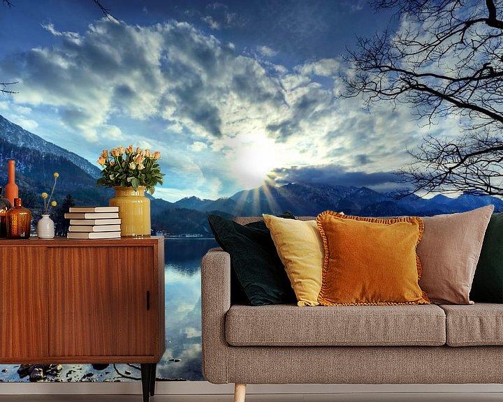 Beispiel fototapete: Blaue Stunde am Walchensee von Roith Fotografie