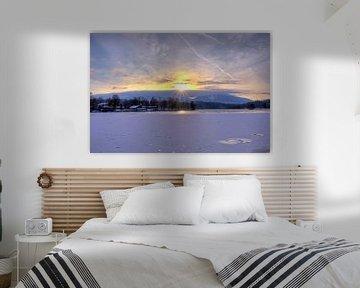 Sonnenstern über dem Staffelsee von Roith Fotografie
