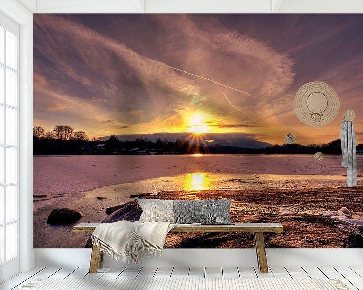 Beispiel fototapete: Sonnenstern am Staffelsee von Roith Fotografie
