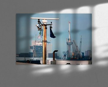 Rotterdamse haven met Euromast van Peter de Kievith Fotografie