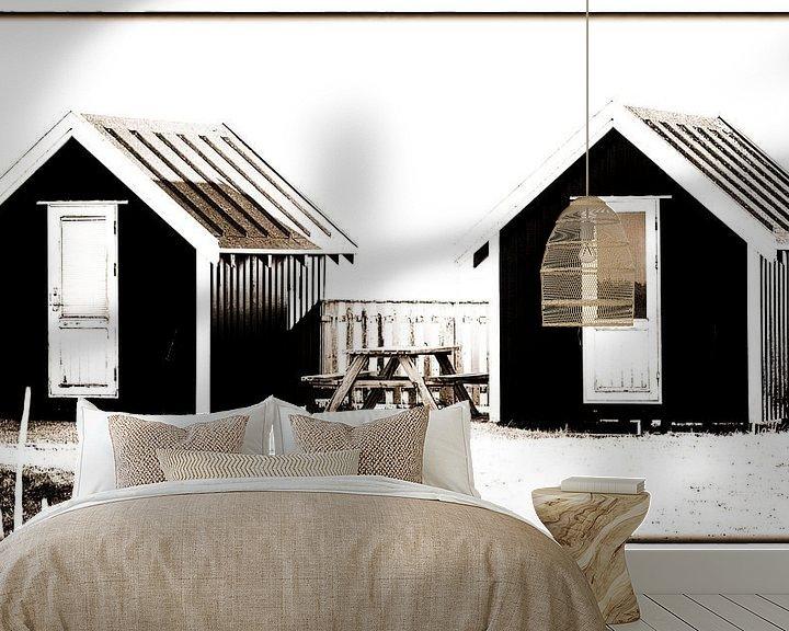 Beispiel fototapete: Kleine Hütten 3 von Kirsten Warner