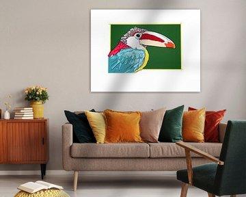 Kroeskop Arassari Vogel van Teun Poppelaars