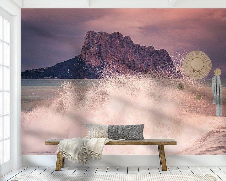 Sfeerimpressie behang: Wintertijd aan zee van Jellie van Althuis