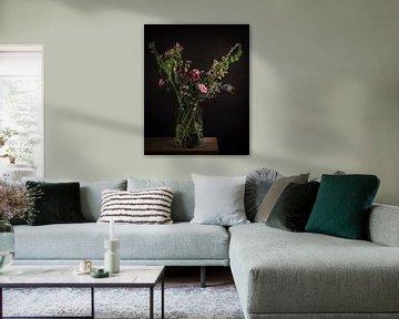 Stilleben Blumenstrauß aus Feldblumen von Marjolein van Middelkoop