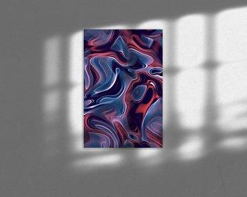 Abstrakte Flammen blau-orange von Jörg Hausmann