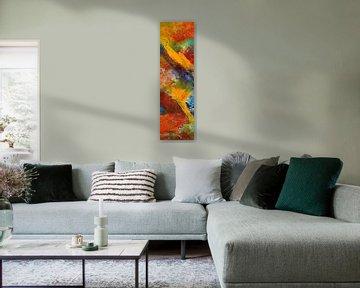 """Abstrakte Malerei """" Temperamentvoll 1 """" von Claudia Gründler"""