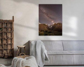 Milchstraße über dem Gletscher des Mont Blanc von Lucas De Jong