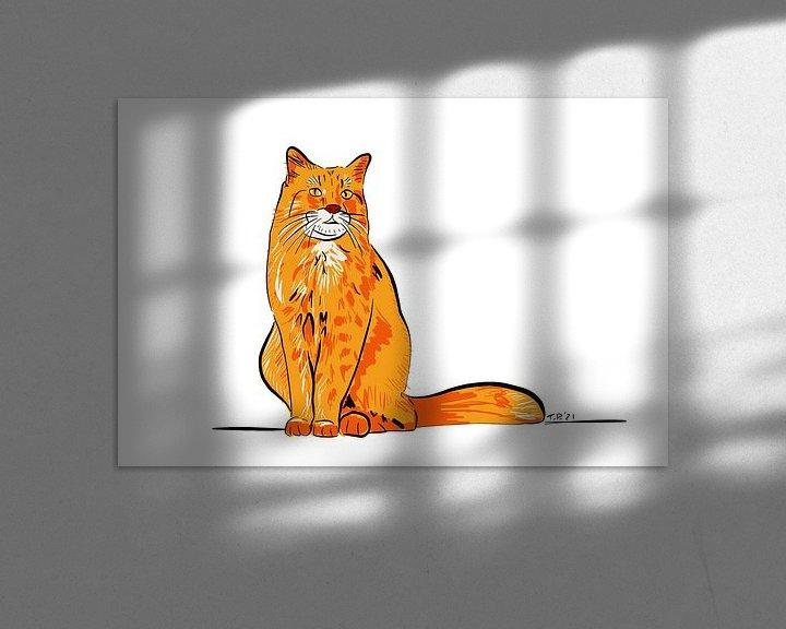 Beispiel: Rote Katze von Teun Poppelaars