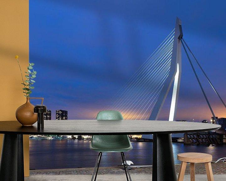 Sfeerimpressie behang: Skyline Rotterdam van Mark Bolijn