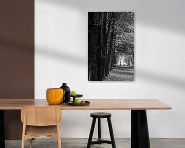 Wald bei Heiloo mit Landgut Nijenburg von Paul Veen