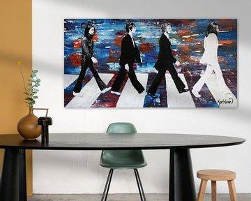 Die Beatles Blau von Kathleen Artist Fine Art