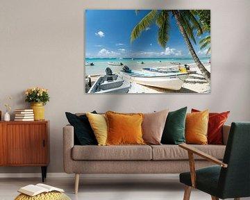 Strand von Bayahibe, Dominikanische Republik, Karibik von Peter Schickert