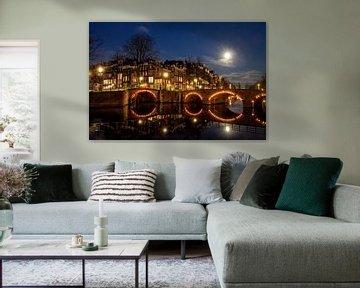 Amsterdam bei Mondschein von Jaco Verpoorte