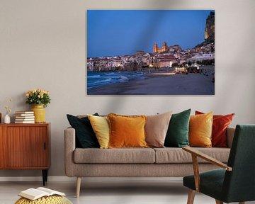 Cefalu au crépuscule, Sicile sur Peter Schickert