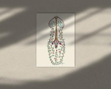 Gaia tree woman van Kirsten Jense Illustraties.