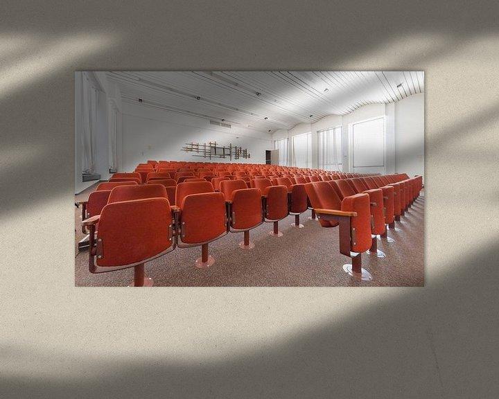 Beispiel: Auditoriumzaal gebouw SAQ (voormalig NatLab), Strijp-S von Bas Wolfs