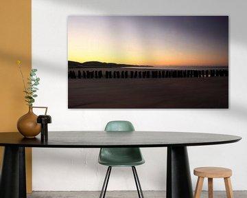 Zonsopkomst Zeeuwse Rivièra van MSP Canvas
