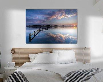 Zonsondergang aan het Hoornse Meer van Koos de Wit