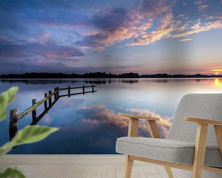 Sfeerimpressie behang: Zonsondergang aan het Hoornse Meer van Koos de Wit