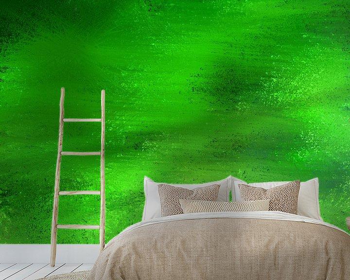 Impression: Le pointillisme basse abstraite dans les tons verts sur Maurice Dawson
