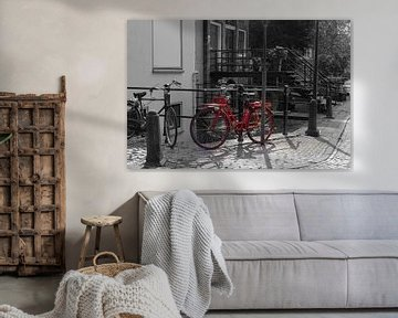 Rotes Fahrrad von Stephen Young